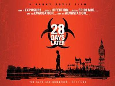 28 days later, zombies, zombie movies, danny boyle