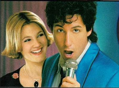 A crop from the poster for The Wedding Singer starring Adam Sandler and Drew Barrymore