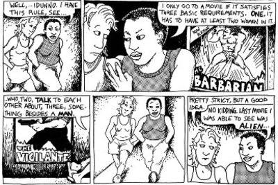 bechdel test, alison bechdel, dykes to watch out for, feminism, women in movies, woman friendly movies