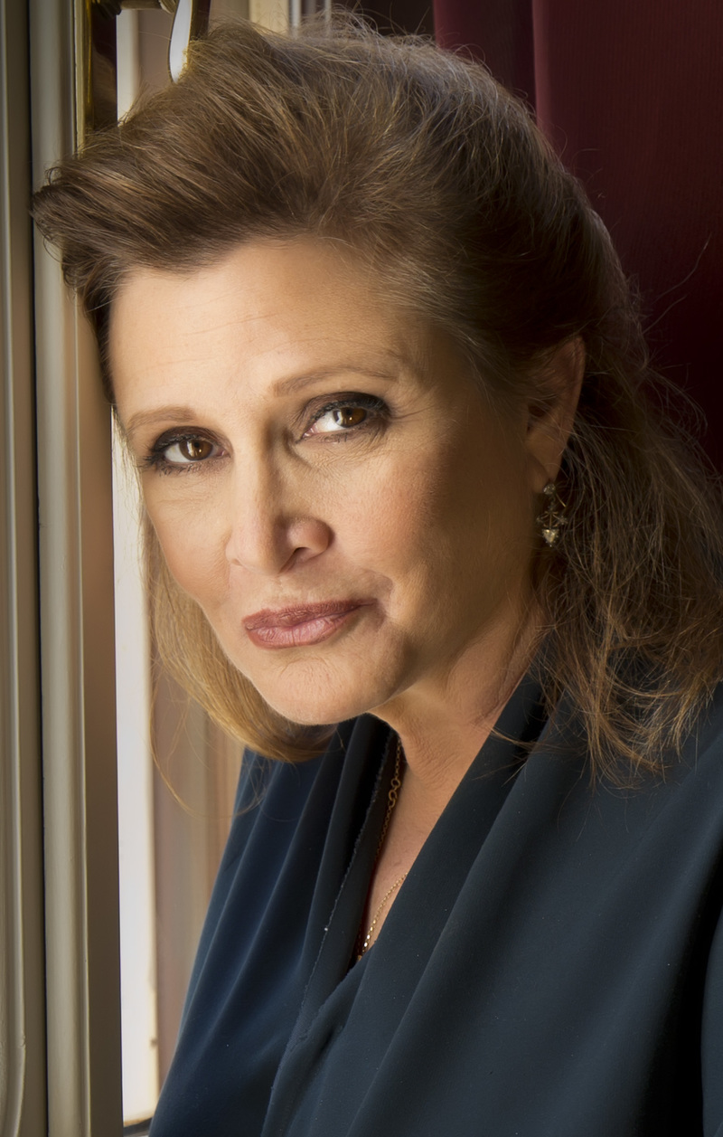 Carrie Fisher - By Riccardo Ghilardi photographer - Own work, CC BY-SA 3.0, https://en.wikipedia.org/w/index.php?curid=52709660