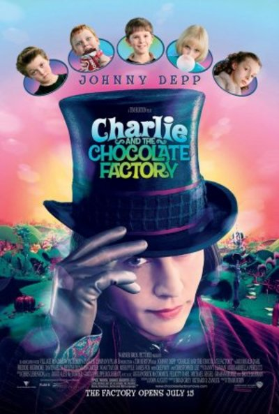 Charlie and the Chocolate Factory starring Johnny Depp