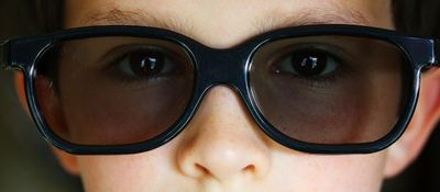 child, cinema, 3D glasses