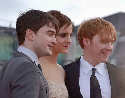 Harry Potter stars, Daniel Radcliffe, Emma Watson and Rupert Grint