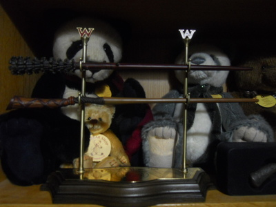 harry potter, weasleys, fred weasley, george weasley, wands, charlie bears, chopstix, tatty, mini mo, panda