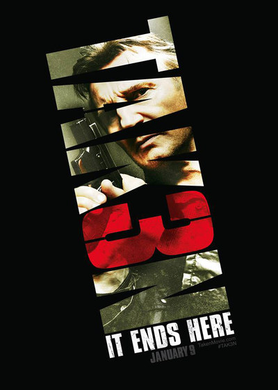 Poster for Taken 3 starring Liam Neeson