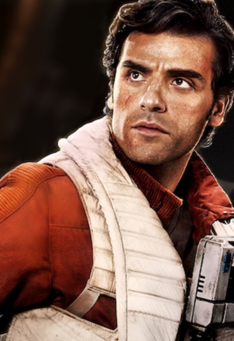 Promotional photo of Oscar Isaac as Poe Dameron, via Wikipedia. Fair use.