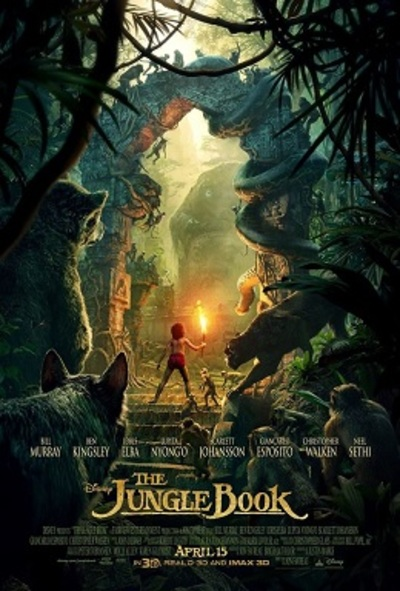 The Jungle Book Movie Poster for the 2016 live-action remake