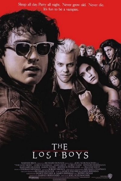 The Lost Boys, Kiefer Sutherland, 80s movies, vampire movies
